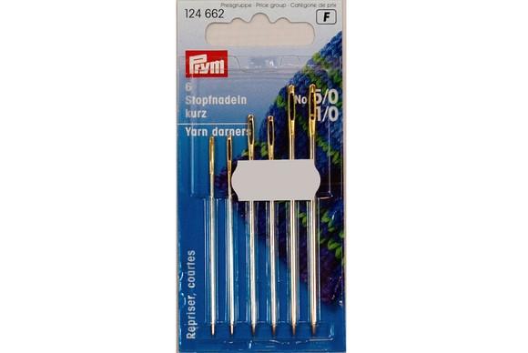 Yarn darning needle, 6 pcs, no. 1/0-5/0
