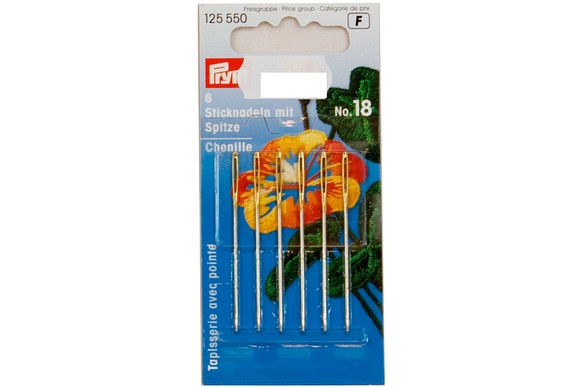 Embroidery needles with point 6 pcs. no. 18