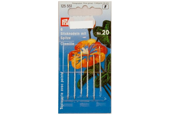 Embroidery needles with point 6 pcs. no. 20