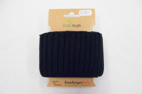 Rib heavy knit black