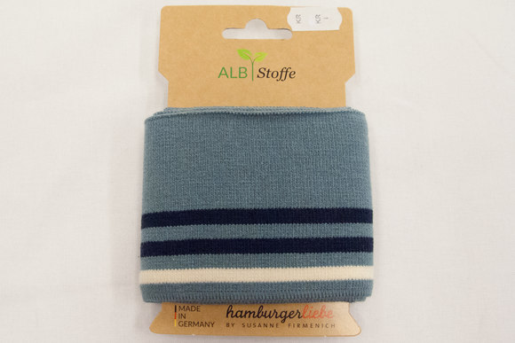 Rib steelgrey and offwhite and navy