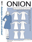 Onion 9011. Retro dress with collar.