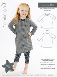 Raglan dress . Minikrea 50022.