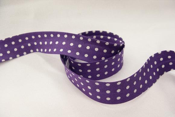 Bias tape dots purple