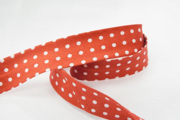 Bias tape dots red