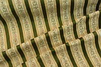 Biedermeier furniture fabric with green stripes