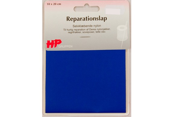 Blue nylon repair patch 10 x 20 cm