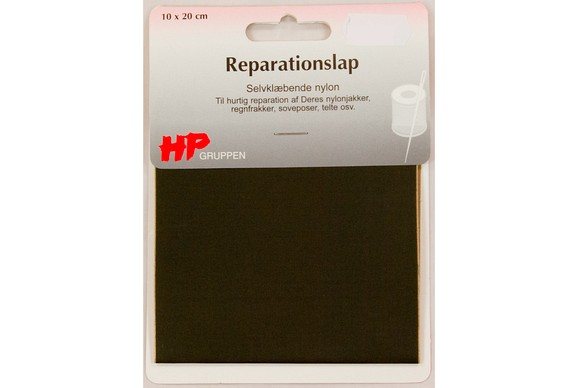 Dark olive nylon repair patch 10 x 20 cm