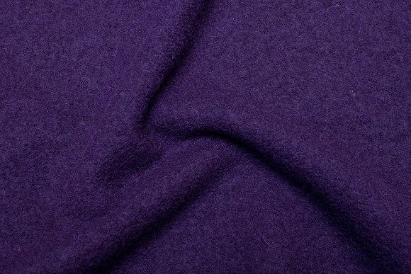 Dark purple wool bouclé in beautiful quality