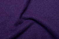 Dark purple wool bouclé in beautiful quality
