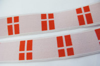 Elastic with danish flags 3.5 cm