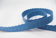 Elastic dusty blue 1 cm
