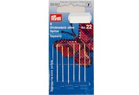 Embroidery needles with point, 6 pcs, no. 22