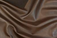 Faux hide in dark brown