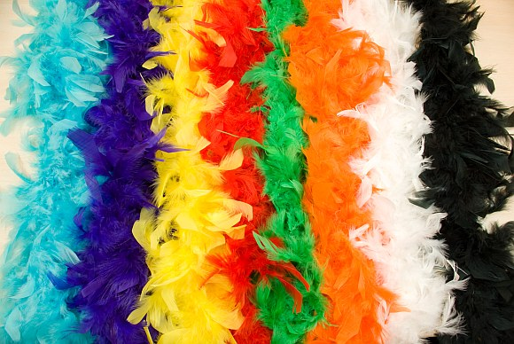 Feather boa in many colors