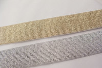 Gold- and silver elastic 3 cm