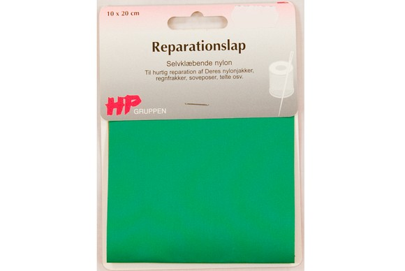 Green nylon repair patch 10 x 20 cm
