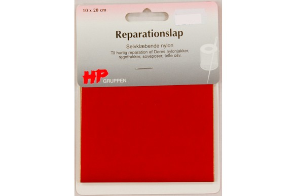 Red nylon repair patch 10 x 20 cm