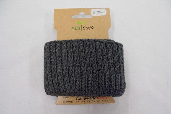 Rib heavy knit grey melange