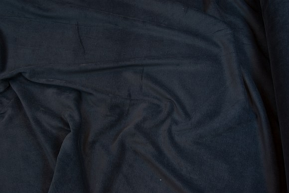 Stretch velvet in classic quality in marine blue