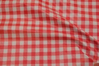 Coated fabric with classic kitchen checkers 14x14 mm