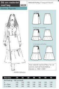 Onion pattern: Wrap around skirt