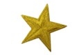 Gold-star iron on patch ø 5 cm