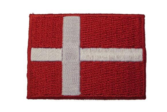 Danish flag patch 3,5x5 cm