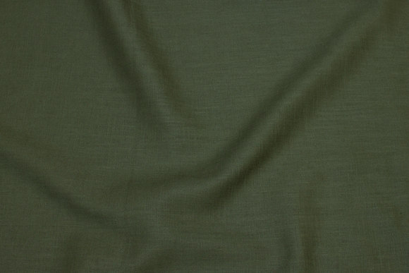 Olive-green pure linen in beautiful quality
