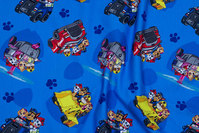 Blue cotton-jersey with paw patrol