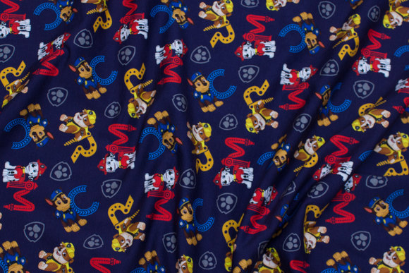Navy cotton-jersey with paw patrol