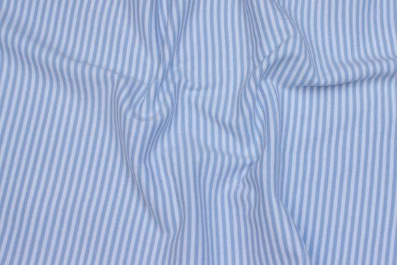Rib-fabric narrow-striped light blue and white