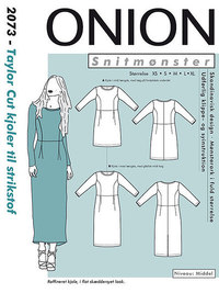 Taylor cut dresses for knits. Onion 2073.