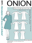 Onion 2075. Retro-dresses with collar for knits.