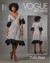 Dress, Zandra Rhodes. Vogue 1676.