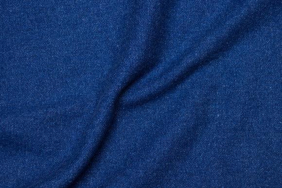 Blue denim, washed and soft