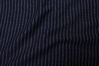 Charcoal and black across-striped rib
