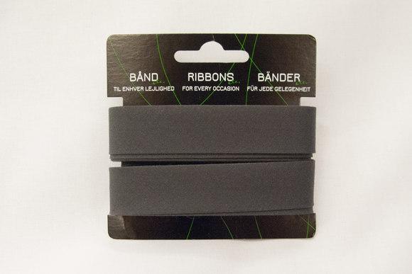 Dark grey bias tape, 5 meter