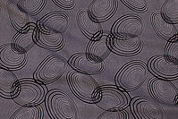 Light polyester mousselin with black circle-pattern