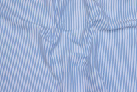 Rib-fabric narrow-striped light blue and white