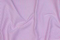 Rib-fabric narrow-striped light red and white