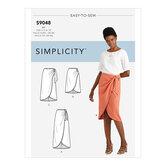 Sarong Skirt With PleatsGather. Simplicity 9048.