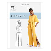Tops, Belt or Scarf and Pants. Simplicity 9051.