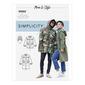 Mens and Teens Jacket and Hood. Simplicity 9052.