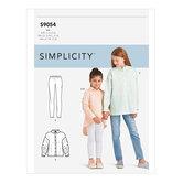 Girls Oversized Tops. Simplicity 9054.