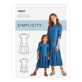 Childrens and Dresses. Simplicity 9057.