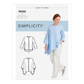 Shirt With Drape Variations. Simplicity 9058.