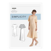 Dress With Length, Sleeve and Fabric Variations. Simplicity 9099.