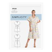 Dresses In Two Lengths With Tiered Variation. Simplicity 9103.