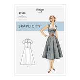 Vintage Dress With Detachable Collar. Simplicity 9105.